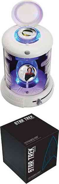 Tuvalu : 2 Dollar Star Trek  Set - Captain Janeway + U.S.S. Voyager 2 x 1oz  2015 PP
