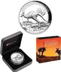Australien : 8 Dollar Känguru 5 oz - Highrelief  2015 PP