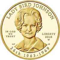 "USA : 10 Dollar Claudia Taylor ""Lady Bird"" Johnson  2015 Stgl."