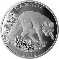 Kanada : 125 Dollar Naturschutz - Garufuchs 1/2 Kilo  2015 PP