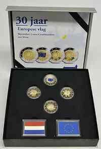 Niederlande : 8 Euro Europaflagge Set: 4x2 Euro 3x farbig PP, 1x normal PP  2015 PP