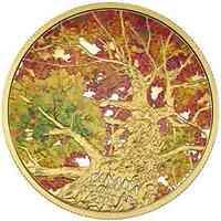 Kanada : 250 Dollar Maple Leaf Canopy - Kaleidoskop der Farben - 2 Unzen Gold  2016 PP