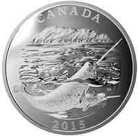 Kanada : 125 Dollar Naturschutz - Narwal  2015 PP