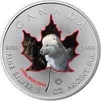 Kanada : 5 Dollar Tierbabies  - Wolf  2016 Stgl.