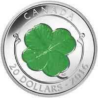 Kanada : 20 Dollar Vierblättriges Kleeblatt (zum St. Patrick#s Day/17. März)  2016 PP