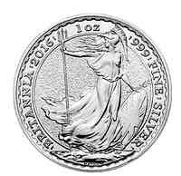 Großbritannien : 2 Pfund Britannia  2014 Stgl.