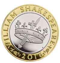 """Großbritannien : 2 Pfund Shakespeare """"Geschichte""""  2016 PP"""