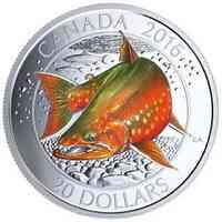Kanada : 20 Dollar Lachsarten - Seesaibling  2016 PP