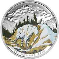 Kanada : 20 Dollar Landschaftsillusion-Bergziege  2016 PP