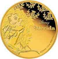 Niue : 25 Dollar Disney - Prinzessin - Merida  2016 PP