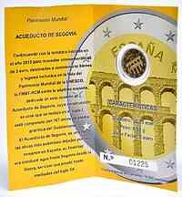 Spanien : 2 Euro Altstadt und Aquädukt von Segovia  2016 PP