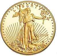 USA : 5 Dollar American Eagle 1/10 oz  2016 PP