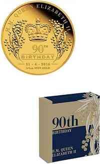 Australien : 25 Dollar 90. Geburtstag Elizabeth II.  2016 PP