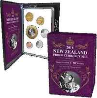 "Neuseeland : 3,80 Dollar Kursmünzensatz ""90. Geb. Queen Elizabeth II"" Si/CN  2016 PP"