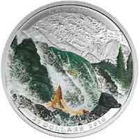 Kanada : 20 Dollar Landschaftsillusion - Lachs  2016 PP