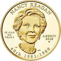 USA : 10 Dollar Präsidentengattinnen - Nancy Reagan  2016 Stgl.