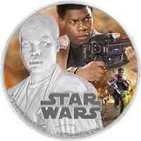 Niue : 2 Dollar Star Wars - Finn  2016 PP