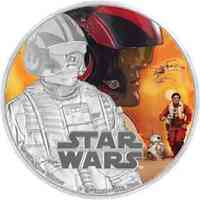 Niue : 2 Dollar Star Wars - Poe Dameron  2016 PP