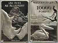 Ungarn : 10000 Forint 150 Jahre Zoo in Budapest - rechteckig  2016 PP