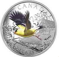 Kanada : 20 Dollar Zugvögel - Goldzeisig  2016 PP