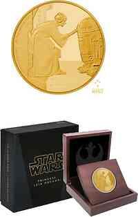 Niue : 25 Dollar Star Wars - Prinzessin Leia Organa  2016 PP