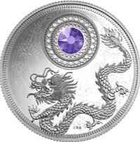 Kanada : 5 Dollar Geburtsstein Dezember mit Swarowski-Kristall Amethyst  2016 PP