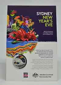 Australien : 1 Dollar Sydney Sylvester Feuerwerk  2017 PP
