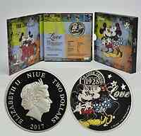 Niue : 2 Dollar Disney Love - Mickey und Minnie  2017 PP