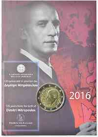 Griechenland 2 Euro Mitropoulos 2016 Stgl. in Coincard