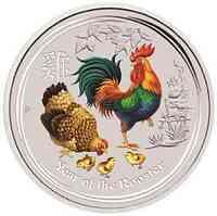 Australien : 30 Dollar Jahr des Hahns - farbig  2017 Stgl.