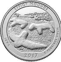USA : 25 Cent Effigy Mounds National Monument - Iowa  2017 Stgl.