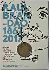 Portugal : 2 Euro 150 Jahre Raul Brandao  2017 Stgl.