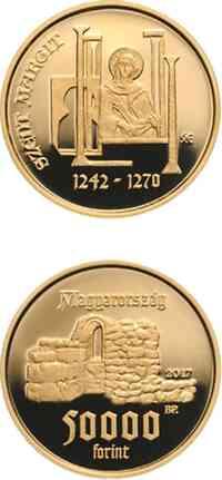Ungarn : 50000 Forint 775. Geburtstag St. Margarete 2017 PP