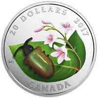 Kanada : 20 Dollar Kleine Kreaturen - Dogbane Käfer - mit Muranoglas  2017 PP