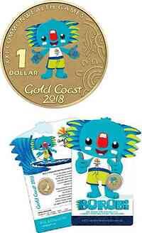 Australien : 1 Dollar Commonwealth Games - Borobi  2017 Stgl.