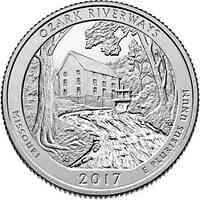 USA : 25 Cent Ozark Nat. Scenic Riverway - Missouri  2017 Stgl.
