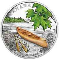 Kanada : 20 Dollar Kanu - aus Holz  2017 PP