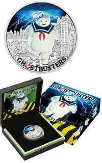Tuvalu : 1 Dollar Ghostbusters - Stay Puft  2017 PP