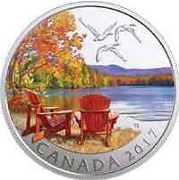 Kanada : 10 Dollar Herbst-Palette - Autumn Palette  2017 Stgl.