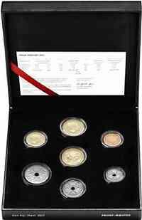 Dänemark : 58,5 Kronen Kursmünzensatz - Goldene Hochzeit  2017 PP