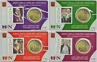 Vatikan : 50 Cent 4x 50 Cent + Briefmarken 0,95 1,0 3,0 2,30 Euro  2017 bfr