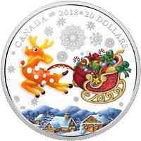 Kanada : 20 Kanada Weihnachts-Rentier - mit Muranoglas  2018 PP
