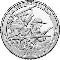 USA : 25 Cent George Rogers Clark Nat. Hist. Park/Indiana  2017 Stgl.