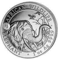 Somalia : 100 Schilling Elefant - Privymark Hund  2018 Stgl.
