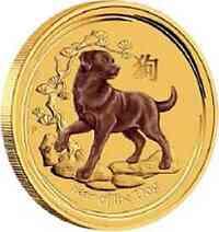 Australien : 5 Dollar Jahr des Hundes  2018 Stgl.