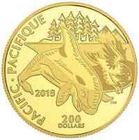 Kanada : 200 Dollar Symbole kanadischer Küsten - Pazifik  2018 PP