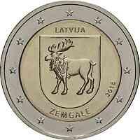 Lettland : 2 Euro Zemgale  2018 bfr