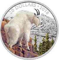 Kanada : 20 Dollar Majestätische Tierwelt - Die mutige Bergziege  2018 PP