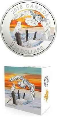 Kanada : 20 Dollar Schneeeule - Geometric Fauna  2018 PP