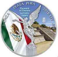 Mexiko : 1 Onza Siegesgöttin - Pyramide von Cholula  2018 Stgl.
